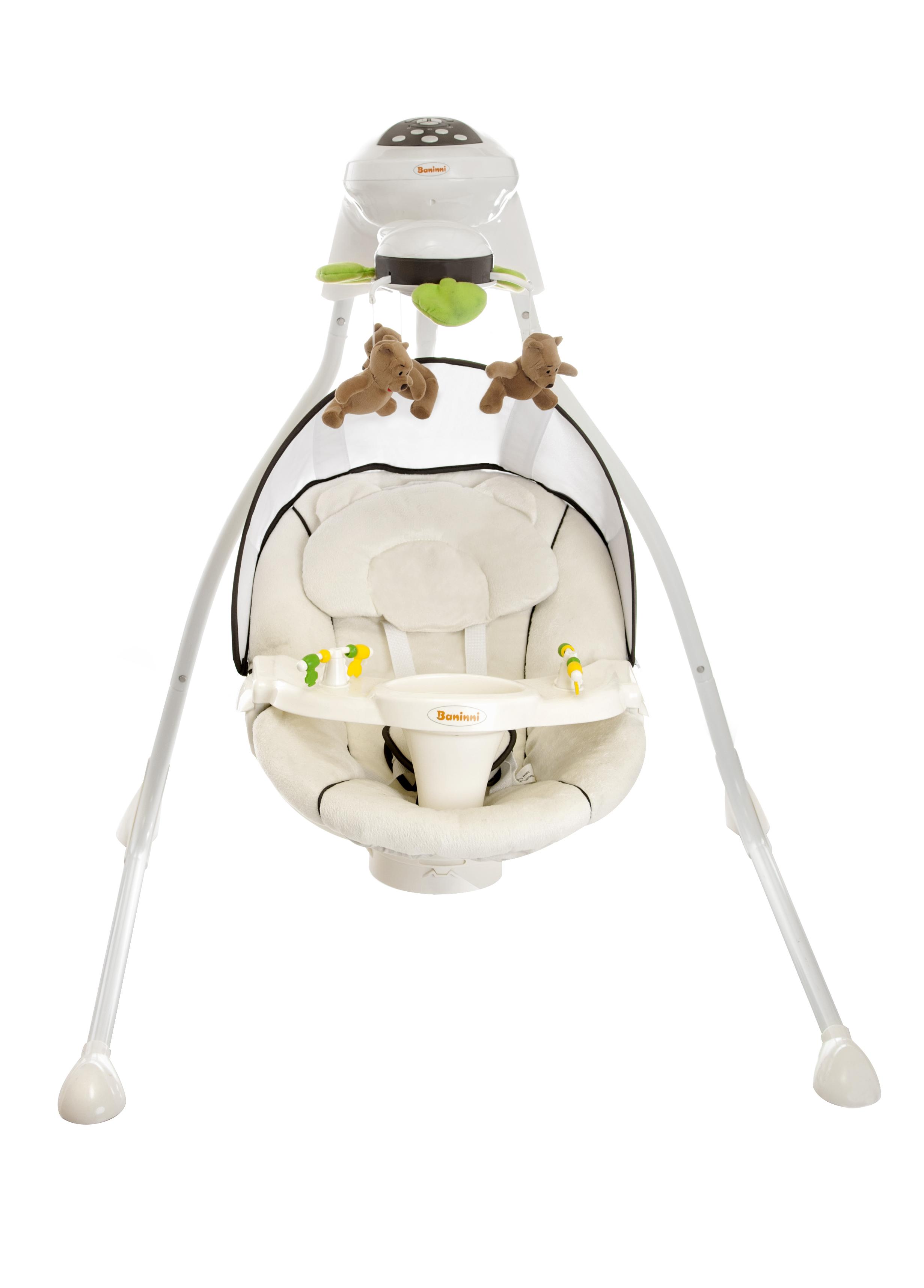 babywiege elektrisch baninni dodoli baby schaukel braun. Black Bedroom Furniture Sets. Home Design Ideas