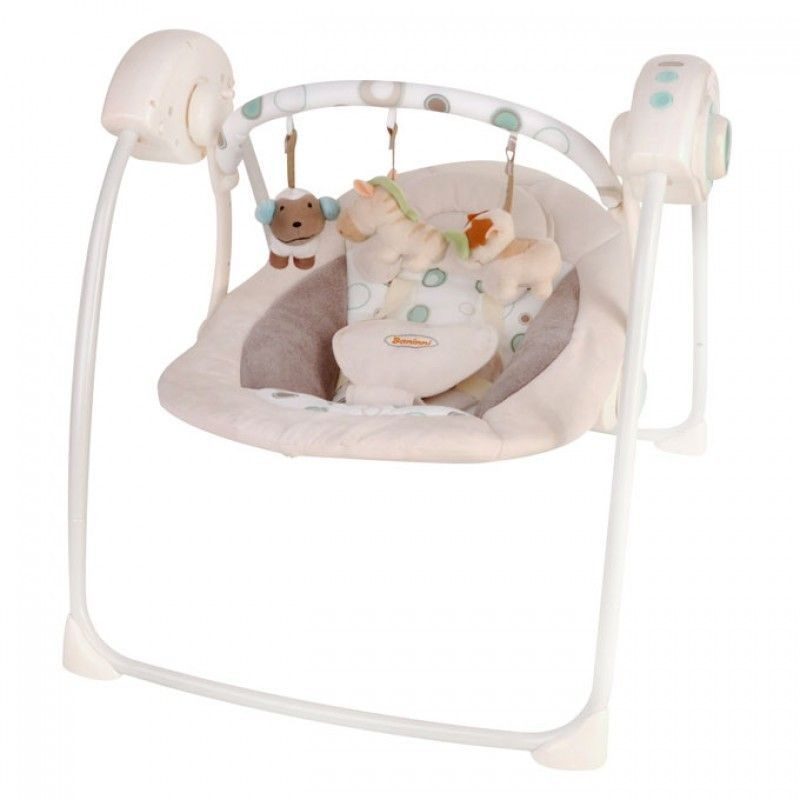 babywiege baninni babyschaukel wippe beige elektrisch mit. Black Bedroom Furniture Sets. Home Design Ideas