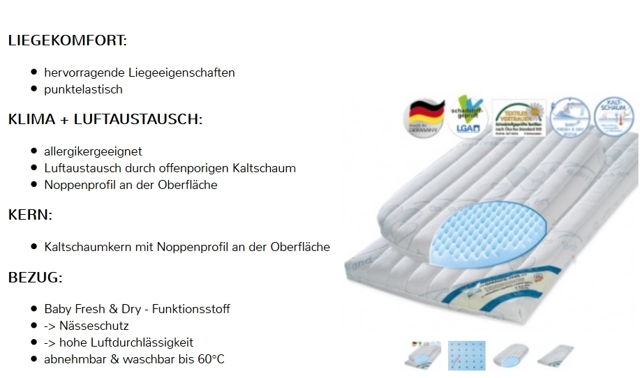 stubenwagen matratze z llner dr l bbe air plus 82x47cm babymatratze oval neu ebay. Black Bedroom Furniture Sets. Home Design Ideas